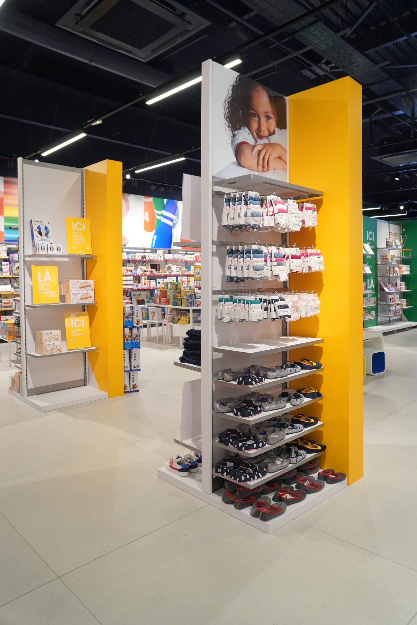 Agencement magasin OKAIDI